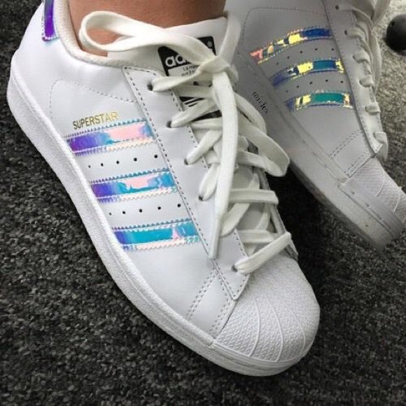 classic fit 7f36c 50601 adidas Shoes - Holographic Adidas Superstar